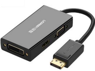 绿联(UGREEN)DP110 DP转VGA+HDMI+DVI转换器