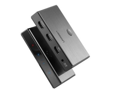 绿联(UGREEN)CM186 HDMI2.0 1进2出分配器