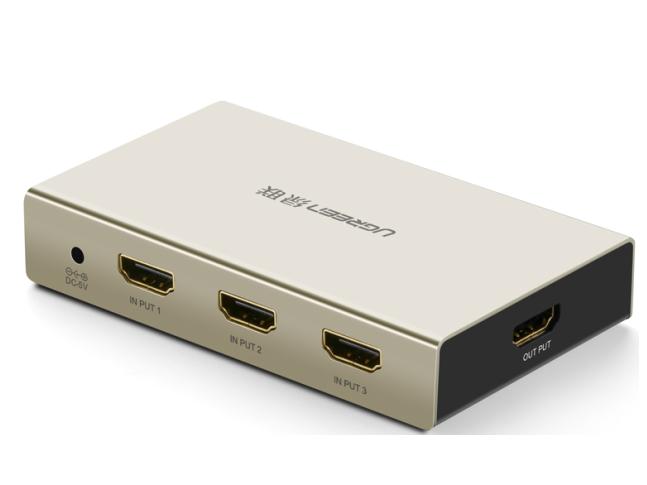 绿联(UGREEN)40278 HDMI 3进1出切换器