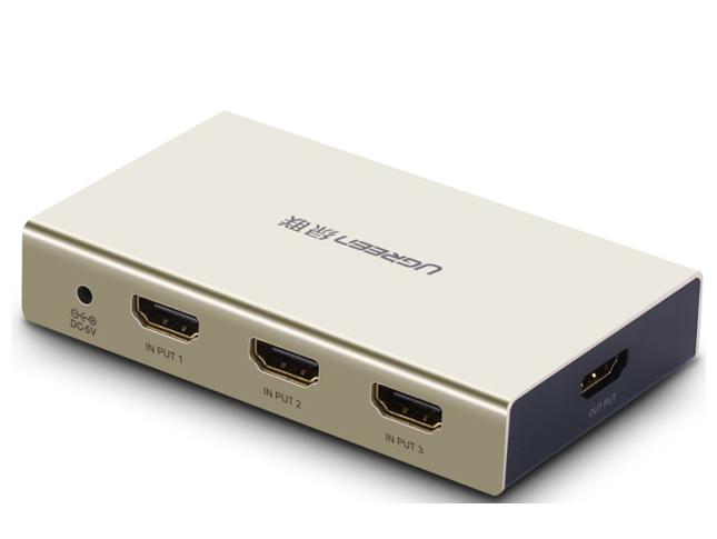 绿联(UGREEN)MM128 HDMI 3进1出切换器