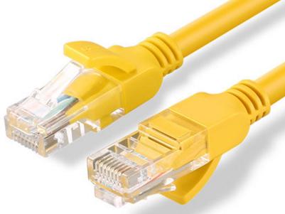 绿联(UGREEN)NW103 超五类八芯双绞网线 黄色 26AWG 铜包铝