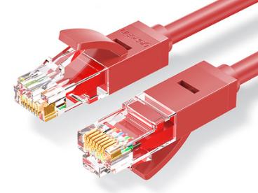 绿联(UGREEN)NW102 六类八芯双绞网线 红色