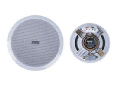 """科瑟  吸顶扬声器 """"额定功率:3-6W 定压输入:70-100V 频率响应:90-16KHz 灵 敏 度:90dB 扬 声 器:6.5寸 外部尺寸:190*70mm 安装开孔:160mm 外壳材料:ABS          """""""