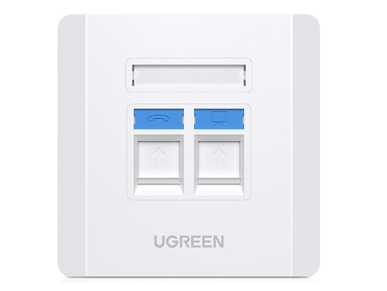 绿联(UGREEN)NW144 双口信息面板