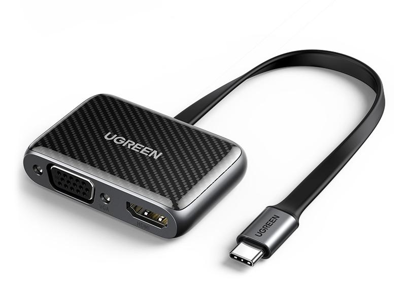 绿联(UGREEN)CM303 Type-C转HDMI+VGA 转换器不带PD