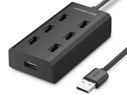 绿联(UGREEN)CR130 USB2.0 7口分线器