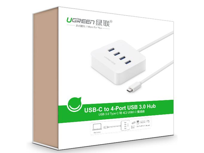 绿联(UGREEN)30316  Type-C转USB 3.0 4口 分线器