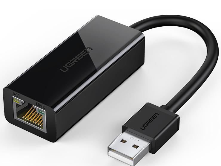 绿联(UGREEN)CR110 USB 2.0百兆网卡