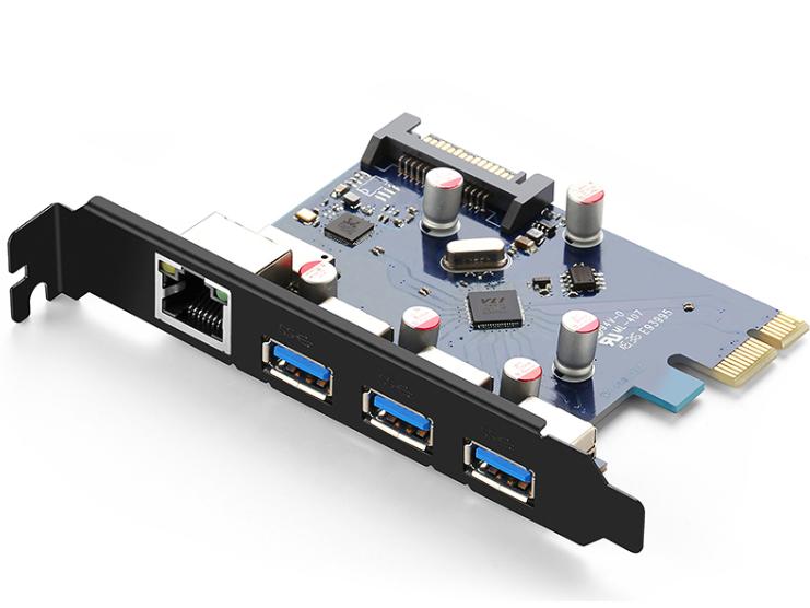 绿联(UGREEN)US230 PCI-E 转USB3.0+千兆网卡转接卡
