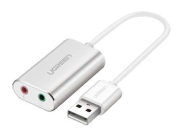 绿联(UGREEN)US218 USB2.0外置声卡 铝壳
