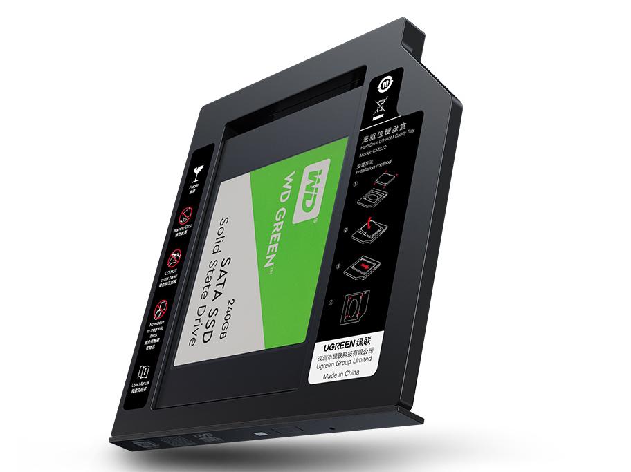 绿联(UGREEN)CM322 光驱位硬盘托架
