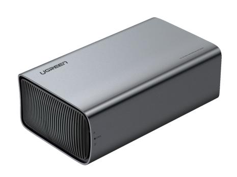 绿联(UGREEN)CM249 USB-C3.1双盘位磁盘阵列盒