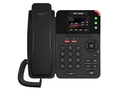 "ES282-PC""● 全新外观设计,320x240像素2.4寸彩屏. ● 高保真音质:HD编码,全双工免提通话. ● 支持多国语言: 如中文,英文,俄文,法文,日文等. ● 3个SIP账号,支持3方语音电话会议等. ● 2*RJ45百兆以太网口(LAN/PC),支持PoE供电. ● 支持EP+手机通讯助理软件、云管理等. ● 支持多达15个可编程功能键,含3个线路可编程键及12个无纸化可编程键."""