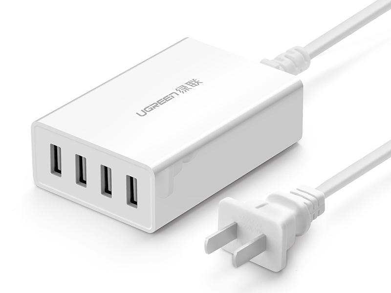 绿联(UGREEN)CD102 桌面四口USB充电器