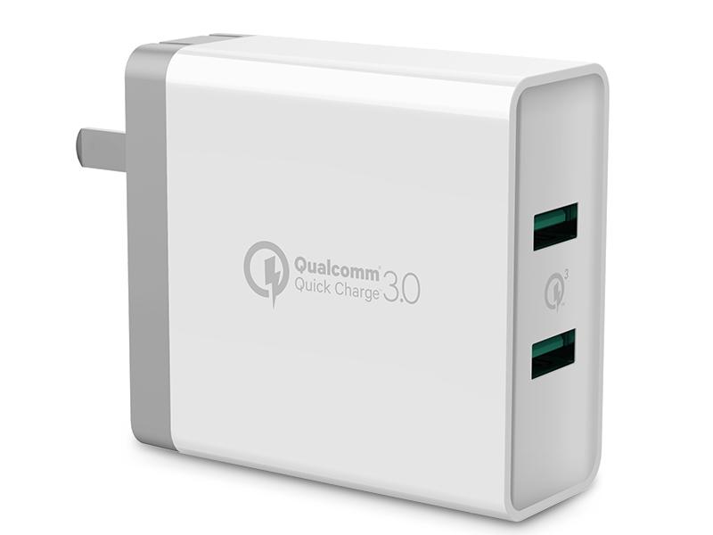绿联(UGREEN)CD161 双口USB(FCP/QC 3.0)折叠款 充电器
