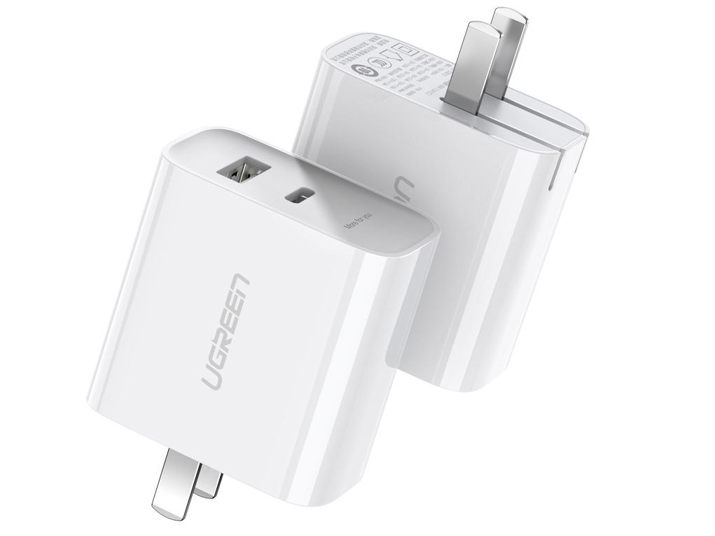 绿联(UGREEN)CD212 双口USB充电器18W 折叠款