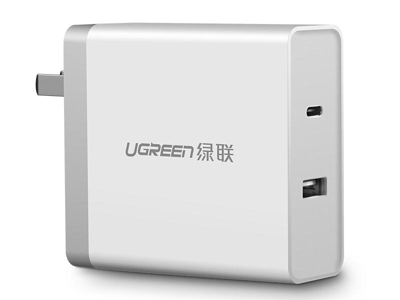 绿联(UGREEN)CD172 双口USB+PD(45W)充电器 折叠款