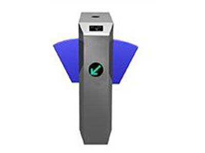 """桥式八角翼闸      HY-QS03    """"伸缩臂长:250(mm) 最小通道宽度:500mm 工作电压:AC220V±10\%    50±10\%Hz 驱动电机:直流有刷电机(24V) 工作环境:室内、室外(阴棚) 温度:-10℃~50℃ 通行速度:40人/分钟(常开),25~30人/分钟(常闭) 出现故障后的自动复位时间:10s 通讯接口:标准RS485接口,距离≤1200m """""""