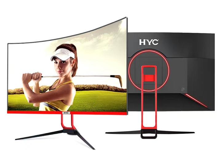 HYC 2736Y 27寸 R1700-75HZ 曲面无边框 1920*1080分辩率 VGA\HDMI\音频 接口