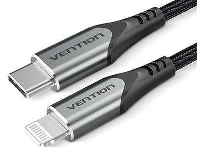 威迅TAC系列USB 2.0 C公对Lightning公数据线铝合金款灰色