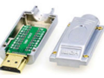 """HDMI免焊接头 """"1.配套工程客户使用                                       2.金属外壳+免焊模块                """""""
