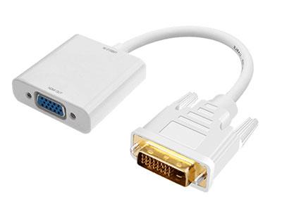 """""""金佳佰业 贵族系列  DVI24+1/VGA母 转接线 白色"""" """"只可DVI信号转换VGA信号 1.支持1920*1080P及以下显示格式。                              2.材料及PCBA全环保,镀金插头,坚固耐用。  """""""