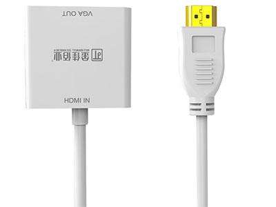 """""""金佳佰业  贵族系列  HDMI/VGA母 畅享版"""" """"只可HDMI信号转换VGA信号 1.不带音频/不带供电。                                         2.支持1920*1080P及以下显示格式。                              3.材料及PCBA全环保,镀金插头,坚固耐用。  """""""