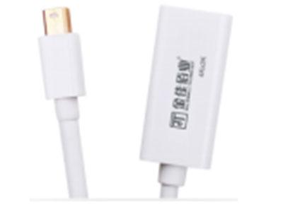 """""""金佳佰业  贵族系列    MiniDP/HDMI2.0母 转接线 被动式"""" """"只可DP信号转换HDMI信号 高性能数模转换芯片 德州仪器进口 (推荐产品) 1.支持4K*2K/60Hz 高分辨率,向下兼容 2.ABS外壳环保防火材料,镀金插头,坚固耐用"""""""