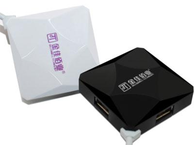 """""""金佳佰业  4口HUB                     水立方系列 """" """" 支持1TB移动硬盘/摄像头等设备. 扩展4个USB2.0端口,兼容USB 1.1及2.0设备                  无需驱动程序,即插即用,支持热插拔. USB 2.0设备的传输速度高达480Mbs"""