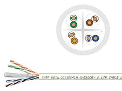 清华同方 六类4对非屏蔽双绞线(低烟无卤)  4×2×23AWG   UTP  cat  6  250MHz  Cable