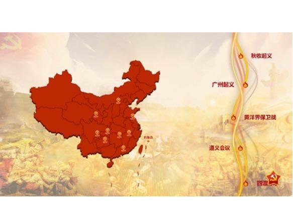 不同交互方式的时间轴形式,重温党的百年建设历程,回顾新中国的发展进程, 纪念革命战争中党的奋斗征程