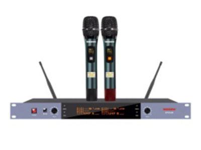 """特美声  KT43-20100组调频双手持 """"1.频率范围UHF 650.00MHz-680.7MHz频段 2.调制方式DQPSK 3.可调信道数100信道 4.信道间隔300KHz 5.振荡方式PLL锁相环频率合成 6.频率稳定度≤20ppm 7.动态范围 100dB 8.频率响应 20HZ-20KHz(±3dB) 9.综合信噪比≥80dB 10.综合失真度≤0.05\% 11.发射功率 ≤10dbm 12.接收灵敏度 96dbm+G41 13.输出阻抗 1KΩ 14.工作距离 30m~100m  """""""