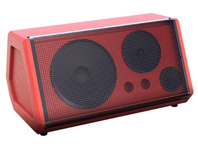 """特美声  JT08-101 """"颜色:黑、红、蓝 低音:10寸,100磁,全频低音,35芯4欧80W,高性能三环布边进口纸盆 中音:6.5寸,80磁,20芯4欧,高性进口纸盆 高音:3寸,60磁,全纸14芯4欧20W,双磁,高性进口纸盆 产品尺寸:720*330*330mm 箱休:采用进口高度中纤板,手工喷漆箱 额定功率:120W;峰值功率:300W 适配器:15V/4A 话筒:双对频话筒 频响范围 (-3dB):70Hz-20KHz 电池规格:12V/14A """""""
