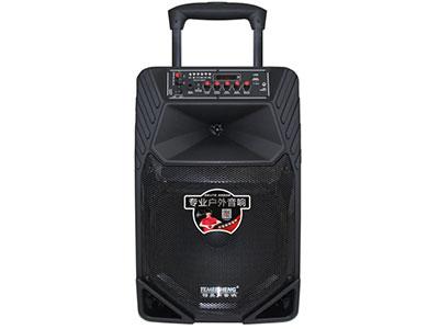 """特美声  A12-8 """"喇叭尺寸:12寸全频低音音  电池容量:4.5Ah/12V  充电器:15V3A桌面式  额定功率:100W  峰值功率:200W  产品特点:采用进口远程喇叭设计,穿透力极强 配件:单手咪、充电器、说明书 功能:蓝牙、语音、录音、话筒优先、外接12V   适用范围:户外活动(如体操、广场舞蹈、产品促销、旅行聚会等)   """""""