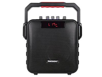 """特美声  SL06-26  """"20周年纪念版,独家私模专款 喇叭:6.5寸低音 电池:5Ah/12V超长待机 话筒:追频话筒*2 功能:4.2蓝牙,USB/TF卡,微信小程序控制,话筒优先,音乐高低音独立调节,话筒音量独立调节"""""""