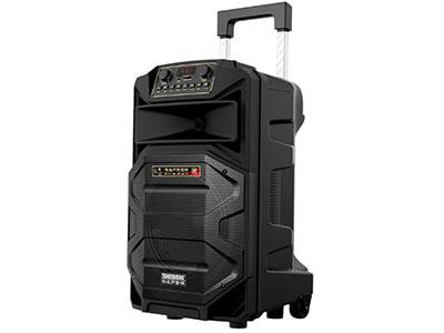 """特美声  SL15-31 """"喇叭尺寸:15寸低音,80磁高音 电池:12V/12Ah天能电瓶 额定功率:150W 峰值功率:300W 产品尺寸:44*43*73CM 产品净重:19.55KG 产品配件:金属对频话筒*2、YK-555遥控、充电线 功能:蓝牙,语音,录音,USB/TF卡,消原音高品质消原音伴唱功能,人声自动减弱、不限音频格式。蓝牙状态下也可消原音伴唱 适用范国:户外活动(广场舞蹈、街头演艺、个人弹唱、体操活动商铺促销、会议、旅行聚会等)"""""""
