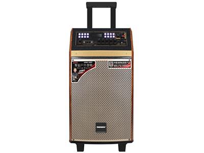 """特美声 QX-0851 """"喇叭:8寸低音,80磁高音 电池:5.5Ah /12V  额定功率:80W  峰值功率:120W  音响尺寸:30*30*59CM  功能:蓝牙,USB/TF卡、语音,录音,网红直播,氛围模式声场模式,消原音伴唱、带遥控、外接12V 无线咪:金属U段话筒*2 适用范围:户外运动(如体操、广场舞蹈、产品促销、旅行聚会、网红直播、街头演艺、会议等)"""""""