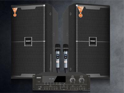 """特美声 套装 KT-510 """"型号:KT-510 1.15厘实木板,高端喷漆工艺。 前导箱,低音强劲,高中音通透明亮甜美,唱歌不费力 2.产品参数:频率响应:(Frequency response) 35Hz-20kHz(±6dB)  3.驱动单元:(Drive unit) HF:1x1,钛膜驱动高音:44芯聚乙烯振膜压缩高音 LF:1x10寸,140磁50芯低频驱动器  4.覆盖角度:(Covquency response):60度(H)x40度(V)  5.阻抗:(Impedan"""