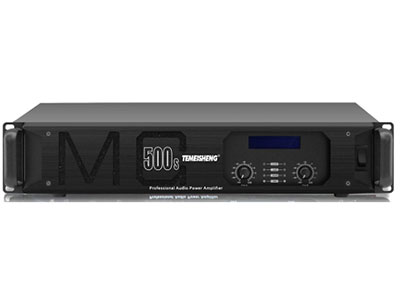 "特美声 功放 MG-650S   ""8Ω功率:500W*2 4Ω功率:800W*2 输入灵敏度:1.0V 输入阻抗:10KΩ(balanced)          20KΩ(balanced,parallel) 频率响应:20Hz-20KHz(±0.3db)          (PLF 20-180Hz)(HPF 130-20KHz) 转换速率:≥30V/us 阻尼系数:>400:1(@1KHz) 信号串扰:>90dB(@1KHz) 信噪比:>100dB 总谐波失真:"