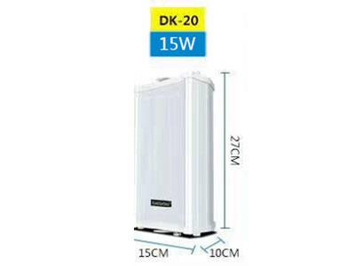 """特美声 防水音柱  DK-20 """"额定功率:15W    灵敏度:91dB±3dB  频率响应:120-18KHz      喇叭单元:4""""""""+0.5""""""""高音                        输入电压:黄-COM  蓝70V  红-100V                       尺寸:155×105×270(mm)"""""""
