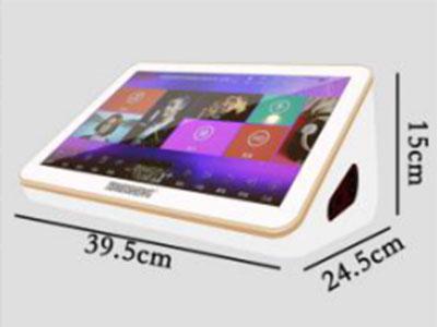 """特美声 TT88 """"型号:TT88 系统:点歌机系统+安卓系统 硬盘:可选配(500G,1T,2T) 屏幕:15.6寸高清 尺寸:39.5*24.5*15CM 重量:3.2KG 配件:HDMI线*1,电源适配器*1,语音线*1,说明书*1,AUX线*1"""""""