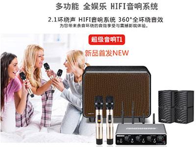 特美声  T1超级音响  峰值功率低音炮120W*1.高中音音箱30W*4   产品尺寸「低音炮37.5x29x27.5cm(长*宽*高)
