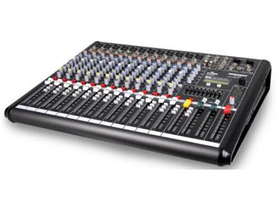 特美声 调音台 T-16 9段EQ均衡(中心频率扫描),2辅助发送,每路配监听和静音开关,2路双声输入控制,+48V幻象电源,带USB功能内置32种数字效果(A16,B16可自由切换)
