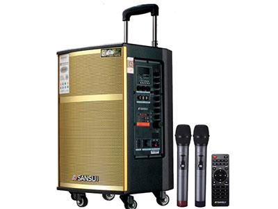 """山水  SA4-08 """"无线串联 8寸喇叭、80磁高音 电池:5.5Ah 功能:云音乐,蓝牙、语音、录音、话筒优先、外接12V ,带咪架,带遥控 无线咪:W-228B银色 功率:40W"""""""