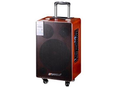 """山水 SG4-10 """"10寸喇叭、80磁高音 电池:9Ah 功能:蓝牙、语音、录音、话筒优先、外接12V, 带咪架,带遥控 双无线咪 功率:60W"""""""