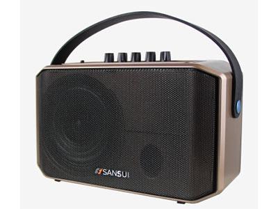 """山水 SA1-05 """"5寸全频低音 电池:7.4V/3AH 单手咪 功能:蓝牙、语音、录音、话筒优先,带遥控,音乐高音低音调节,话筒混响调节 电源适配器:15V/3A 功率:40W """""""