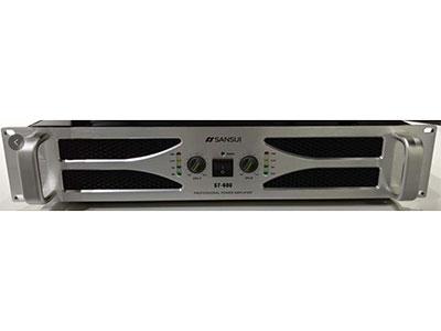"""山水 S7-600 """"S7-600额定功率(8欧):600W×2  额定功率(4欧):900W×2    额定功率(桥接8欧):1200W        频率响应: 20Hz-20KHz,+/-0.5dB 诺波失真:<0.08%       上升速度:29V/uS                                  阻尼系数:>450   电压增益:36.5dB                              灵敏度:0.77V-1,1V-1.4V 三档可调"""
