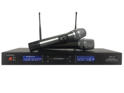 """山水 SK6-43 """"时尚外形设计 高端铝合金面板 双屏显示 高端UHF麦克风 3秒静音"""""""