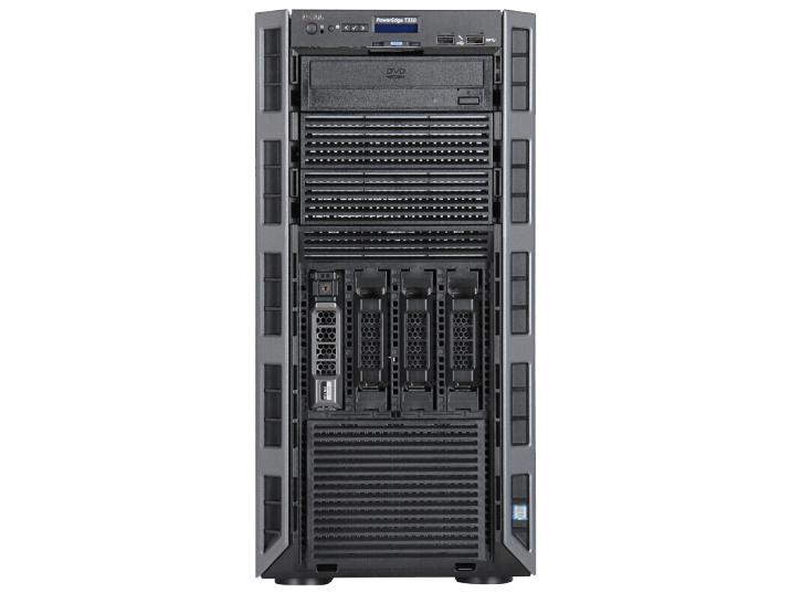 戴尔(DELL)T330 塔式服务器主机  (E3-1220V6)热盘冷电8盘位志强4核3.0