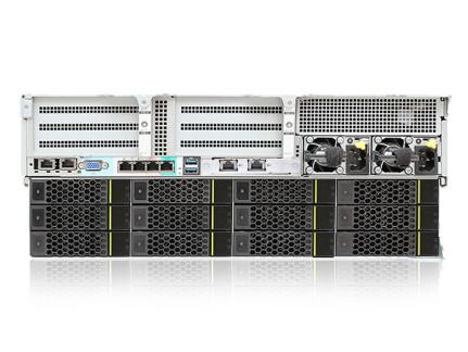 华为(HUAWEI)5288 V5服务器主机 36盘 4U机架式 企业级存储式服务器 虚拟化云计算机 单颗金牌5115 10C 2.4GHz双电 64G2.4T 10K*24SR450-M